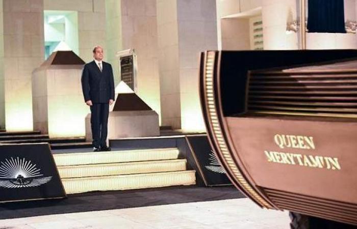 20 صورة ترصد افتتاح السيسي لـ «القومي للحضارة» واستقبال المومياوات الملكية