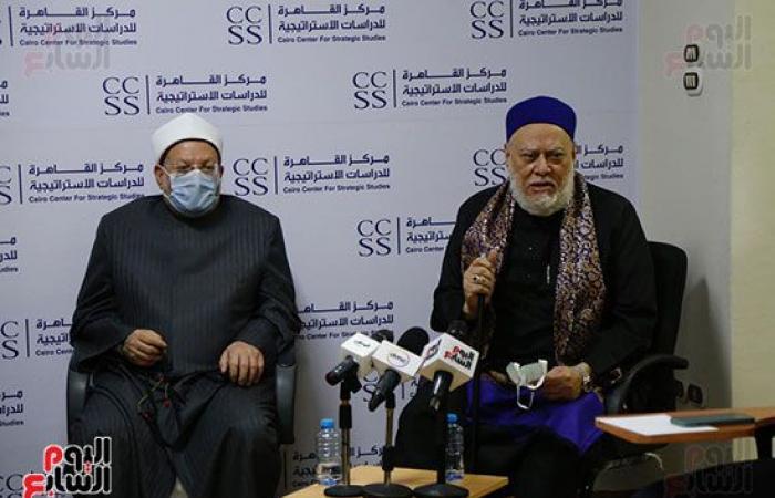 مركز القاهرة للدراسات يكرم الدكتور أسامة الأزهرى والفنان كمال أبورية