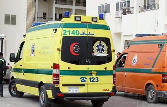 إصابة 3 أشخاص فى تصادم بين سيارتين بمنطقة البدرشين