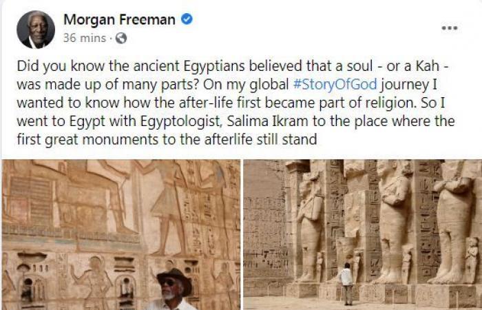 مورجان فريمان يستعيد ذكريات زيارته إلى الآثار المصرية.. بعد موكب المومياوات