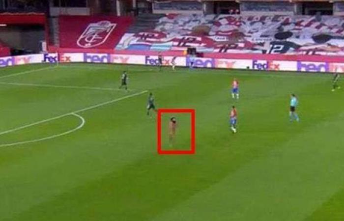 بدون ملابس.. شخص يقتحم مباراة مانشستر يونايتد وغرناطة بالدوري الأوروبي