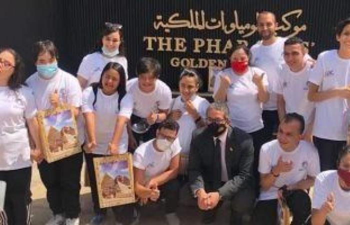 أبطال الاتحاد المصري للاعاقات الذهنية فى زيارة للمتحف القومي للحضارة المصرية