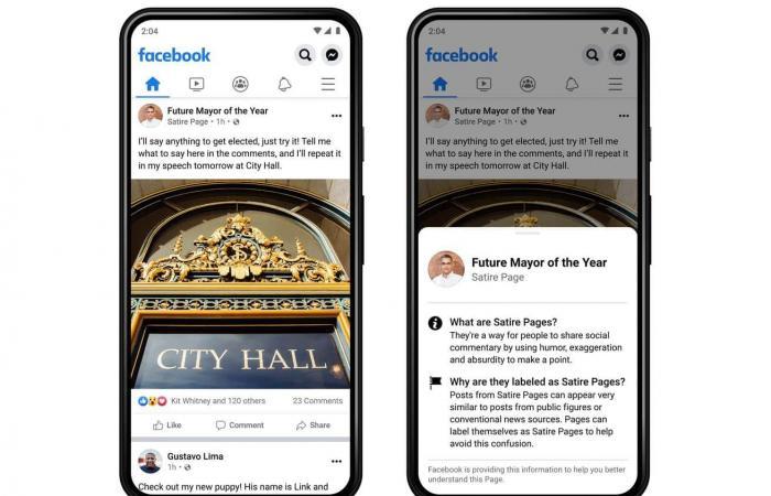 فيسبوك تضيف تصنيفات سياقية إلى الصفحات الشائعة