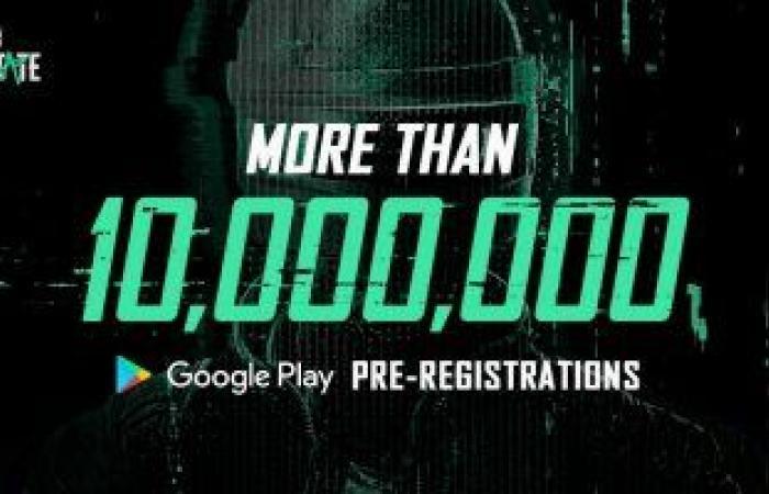 "لعبة PUBG New State تتجاوز 10ملايين ""تسجيل مسبق"" على متجر تطبيقات جوجل"