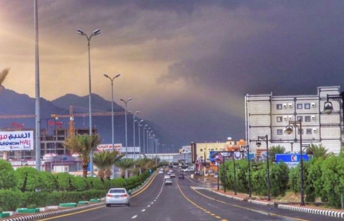 الأرصاد: أمطار وسحب رعدية ورياح نشطة وأتربة مثارة على بعض مناطق المملكة