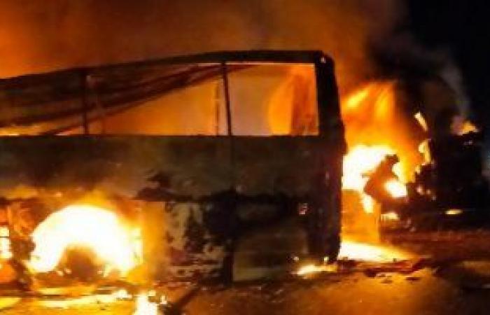 محافظ أسيوط: ارتفاع عدد ضحايا حادث أتوبيس طريق أسيوط لــ20 حالة وفاة