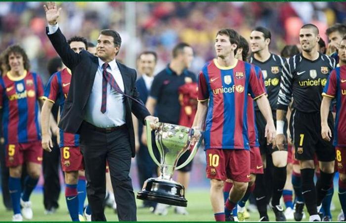 لابورتا يقدم عرضه النهائي لتجديد عقد ميسي مع برشلونة