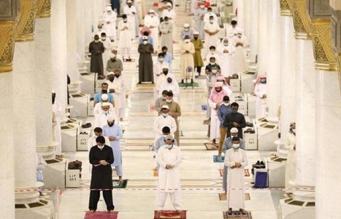 إقامة أول صلاة جمعة بالمسجد النبوي في شهر رمضان 2021