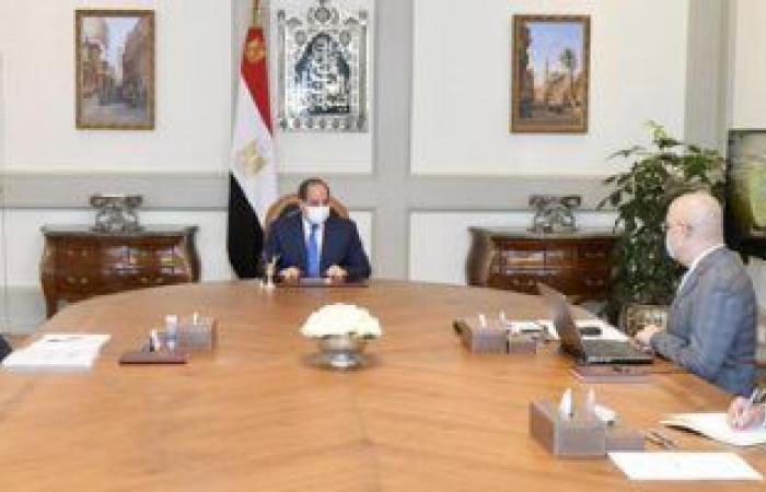 الرئيس السيسي يتابع موقف مشروعات المدن الجديدة والطرق وتطوير العشوائيات