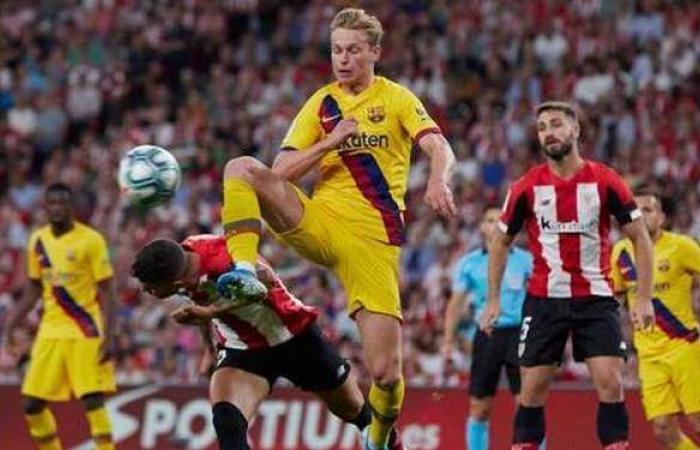التشكيل الرسمي لمواجهة برشلونة ضد أتلتيك بيلباو بنهائي كأس ملك إسبانيا