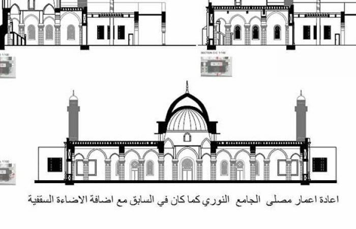 فريق مصري يفوز بإعادة إعمار المسجد النوري بالموصل... صور
