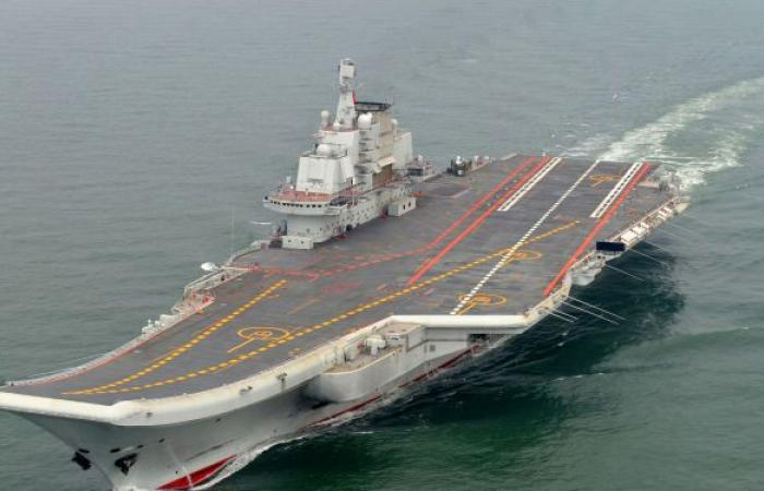 قمر صناعي يقيس حجم حاملة طائرات صينية جديدة ... صور