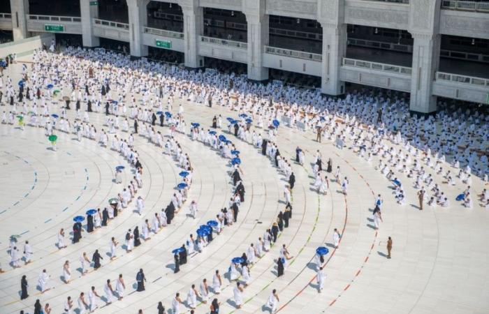 خطة لتفويج المعتمرين بالمسجد الحرام أثناء هطول الأمطار