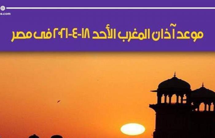 موعد أذان المغرب اليوم الأحد 18-4-2021 في مصر