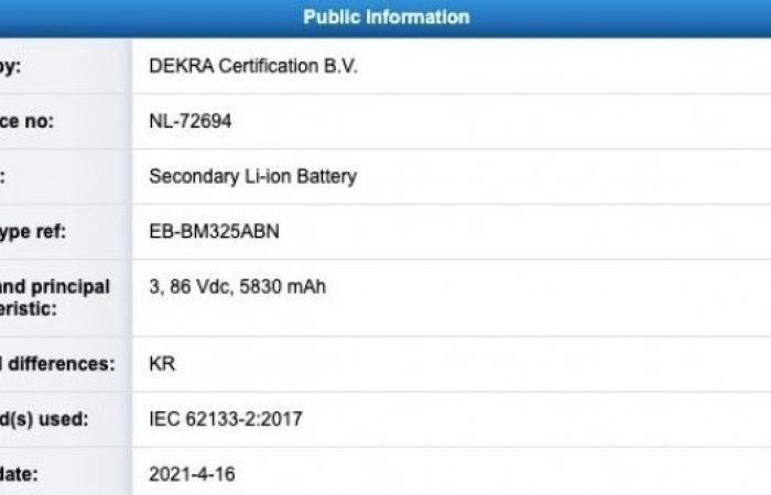 تسريبات تؤكد على قدرة بطارية 6000 mAh في هاتف Galaxy M32 المرتقب
