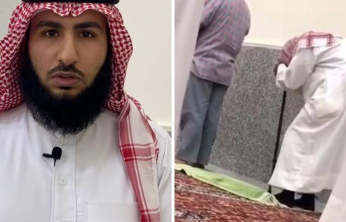 الظفيري يكشف قصة مقطع والده بالعكاز في جامع الراجحي