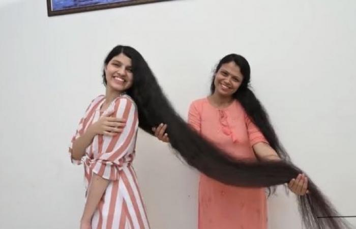 الهندية صاحبة أطول شعر بالعالم تقصه لأول مرة منذ 12 عاماً