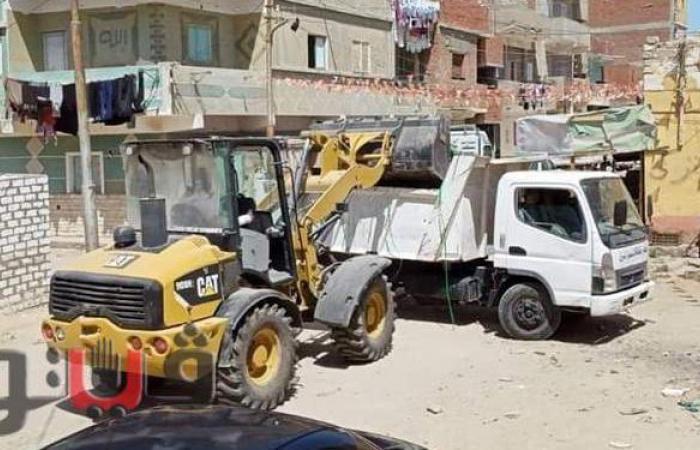 رفع ٥٠ طنا من القمامة في مدينة القنطرة شرق ومتابعة أعمال التعقيم | صور