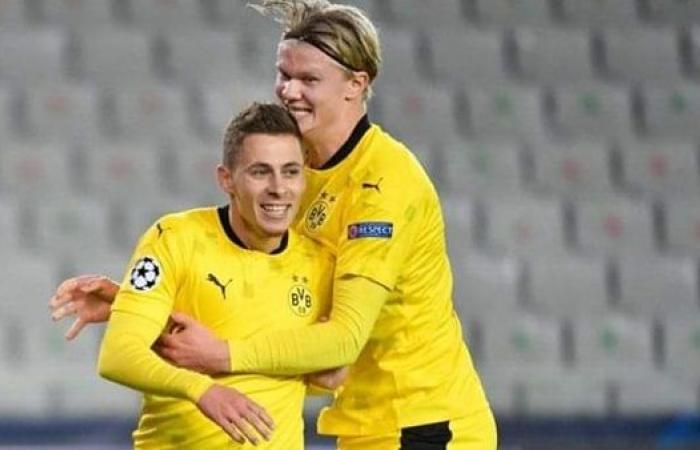 بروسيا دورتموند يحسم مصير هالاند