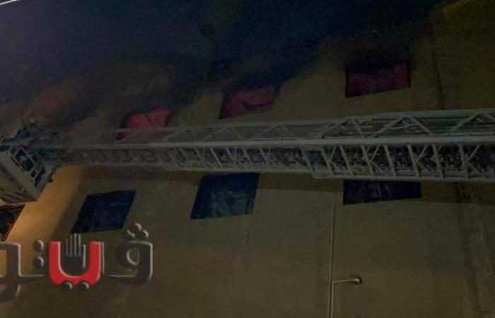 20 صورة ترصد اندلاع حريق هائل داخل كنيسة مارمينا بالعمرانية