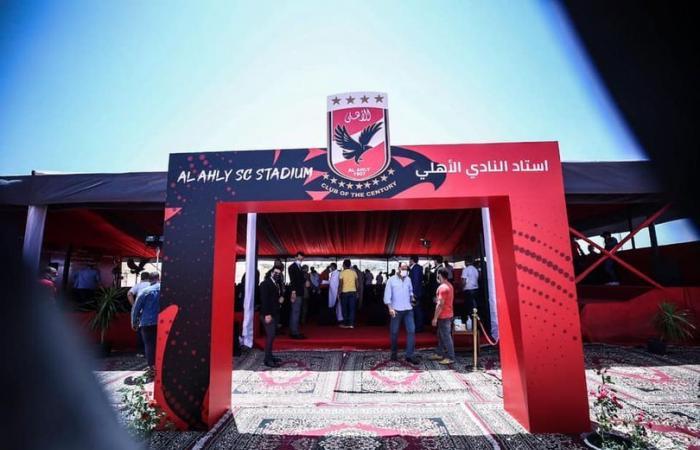شاهد آخر استعدادات حفل وضع حجر أساس استاد النادى الأهلى بالشيخ زايد