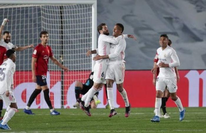 شاهد أهداف مباراة ريال مدريد وأوساسونا في الدوري الإسباني