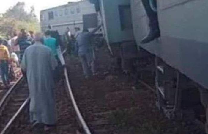 إصابة سائق قطار دمياط في حادث خروج إحدى العربات عن القضبان