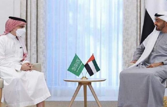 ولي عهد أبو ظبي يبحث مع وزير الخارجية السعودي التعاون المشترك