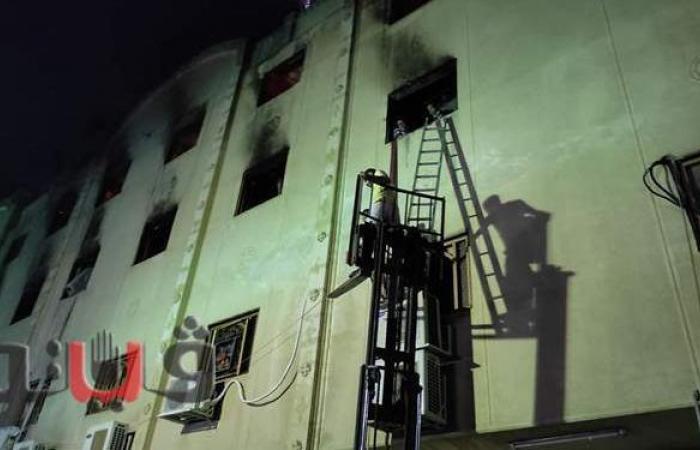 الحماية المدنية تجرى عمليات تبريد لحريق كنيسة مارمينا بالعمرانية | صور