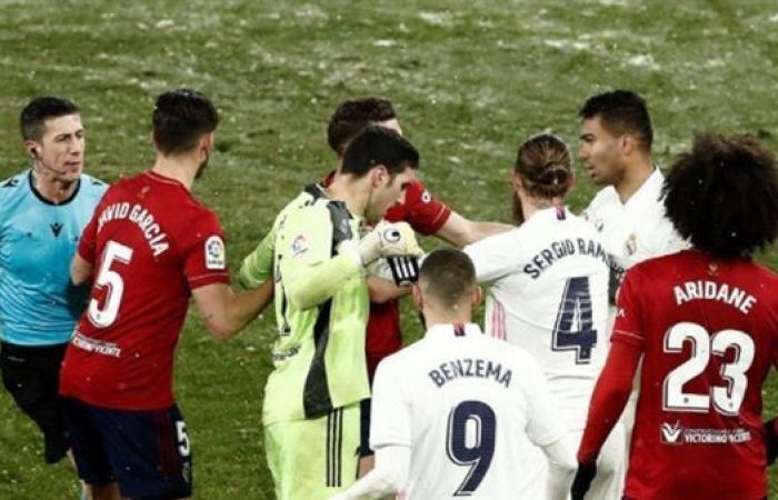 قناة مفتوحة تنقل مباراة ريال مدريد ضد أوساسونا في الدوري الاسباني