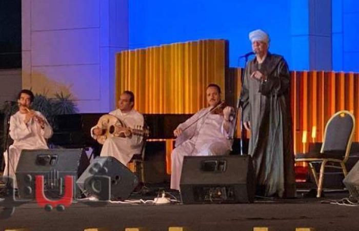 ليلة روحانية.. ياسين التهامي يشدو على مسرح النافورة | صور