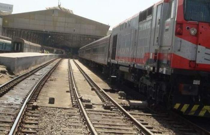انتظام حركة القطارات على خط المنصور طنطا بعد خروج قطار عن القضبان