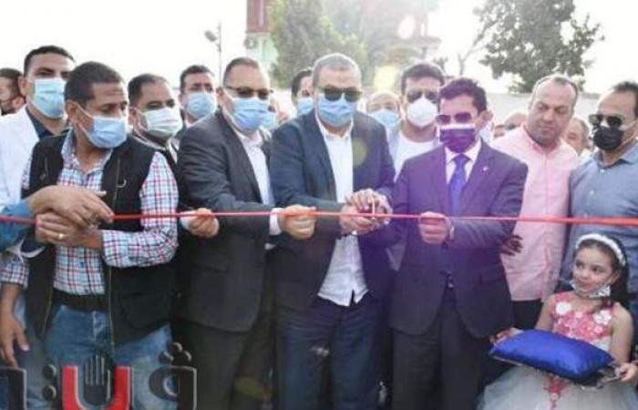 وزيرا الشباب والقوى العاملة والمحافظ يفتتحون ملعب الإخيوة بالشرقية
