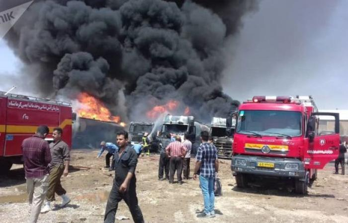 انفجار في مصنع كيماويات بإيران... صور
