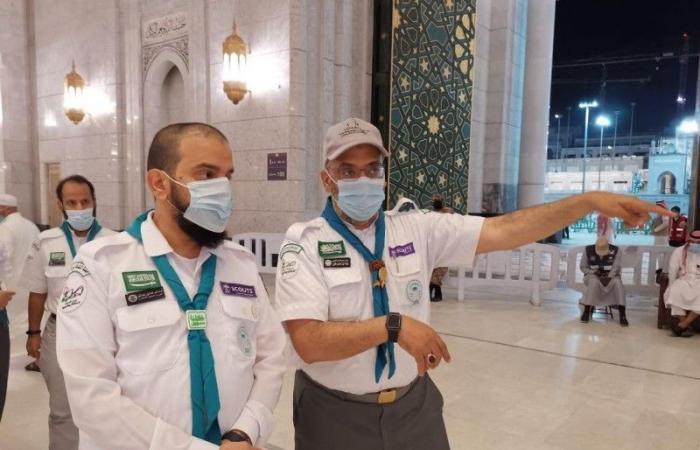العامودي يلتقي القيادات الكشفية المتطوعة لخدمة المعتمرين