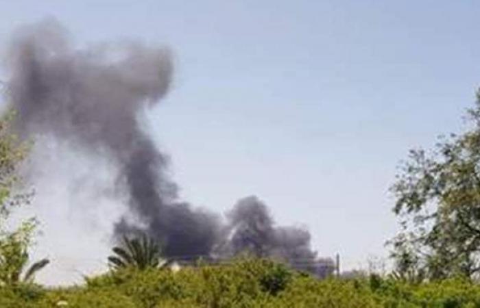 لحظة اندلاع حريق هائل بالقرب من مطار بن جوريون في إسرائيل | فيديو