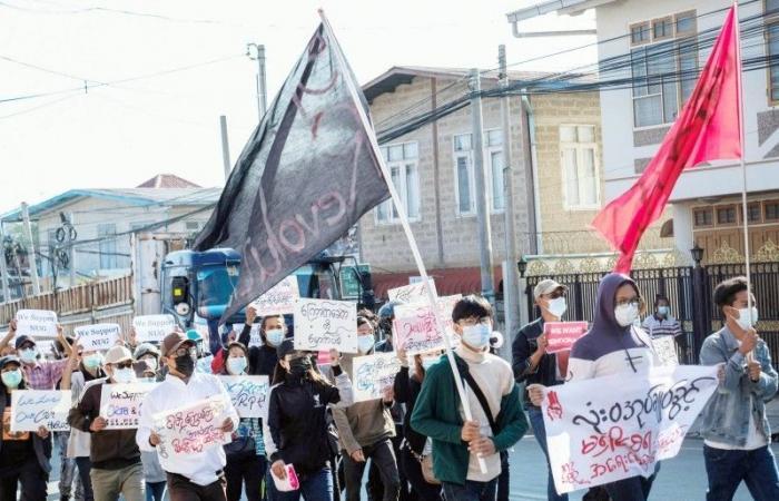 ميانمار: مقتل 5.. واحتجاجات حاشدة تندد بالانقلاب