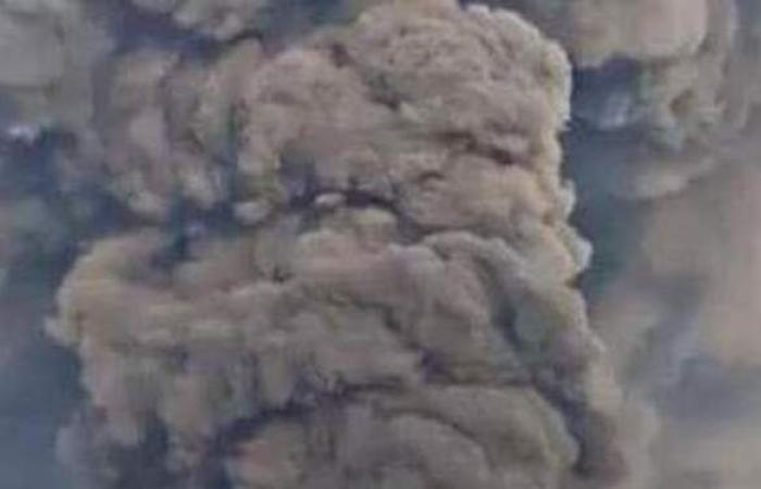أول فيديو لحريق مصنع الكيماويات وسط إيران