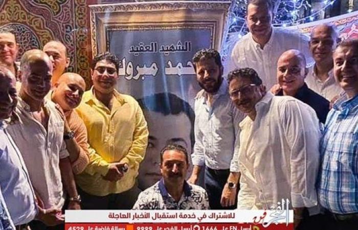 إياد نصار يشارك في إفطار دفعة الشهيد محمد مبروك