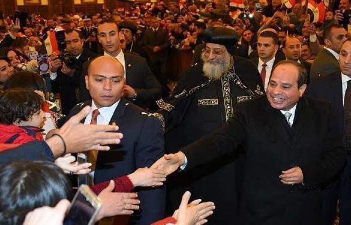 8 زيارات رئاسية للكنيسة القبطية وتهنئة المصريين بعيد القيامة لنشر قيم المحبة والمساواة