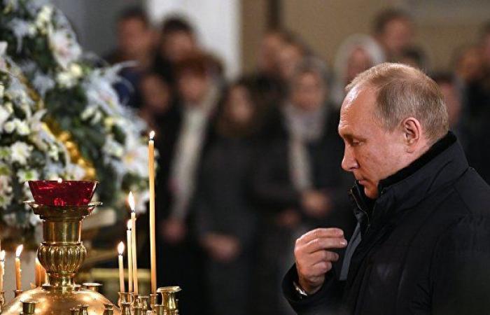بوتين يصل إلى كاتدرائية المسيح المخلص بموسكو لحضور قداس عيد الفصح