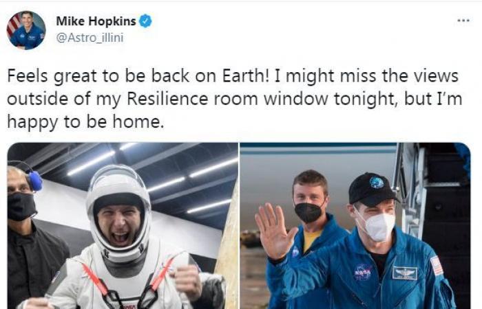 رائد فضاء أمريكى يحتفل بلحظة عودته إلى الأرض بعد غياب 6 أشهر