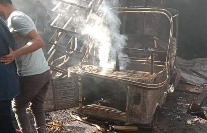 السيطرة على حريق مخبز بدار السلام وتفحم توك توك وإصابة مواطن الحصيلة