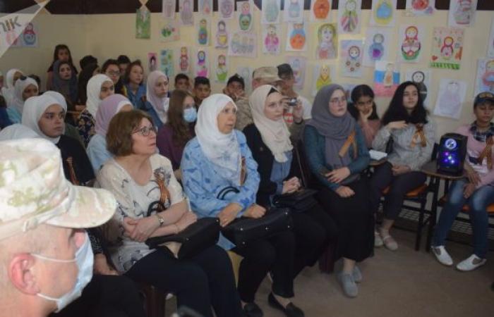 الجالية الروسية في درعا تطلق الاحتفالات بعيد النصر