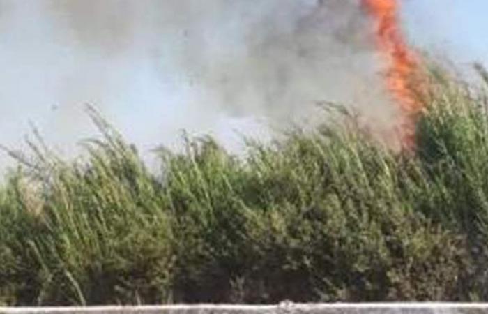 إخماد حريق شب في مخلفات بكورنيش النيل في الزمالك