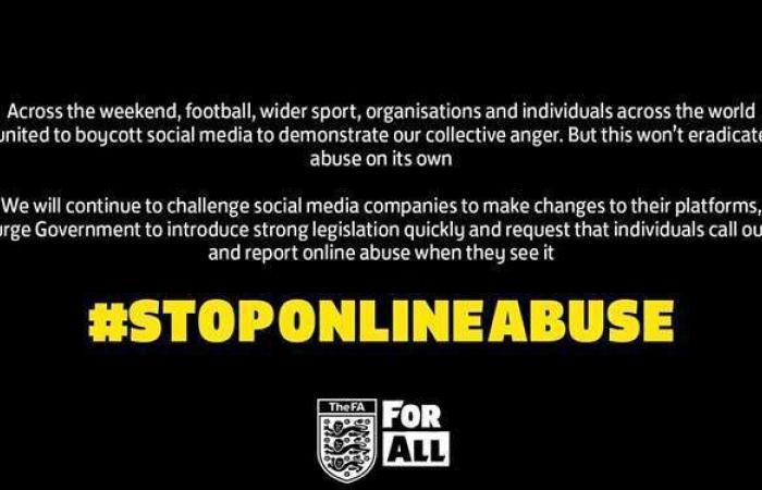 """الاتحاد الإنجليزي لكرة القدم يطالب بتشريعات لوقف """"إساءات الإنترنت"""""""