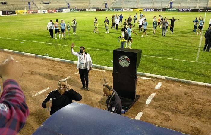 شاهد احتفالات لاعبي المحلة بعد الفوز على الأهلي بهدف نظيف