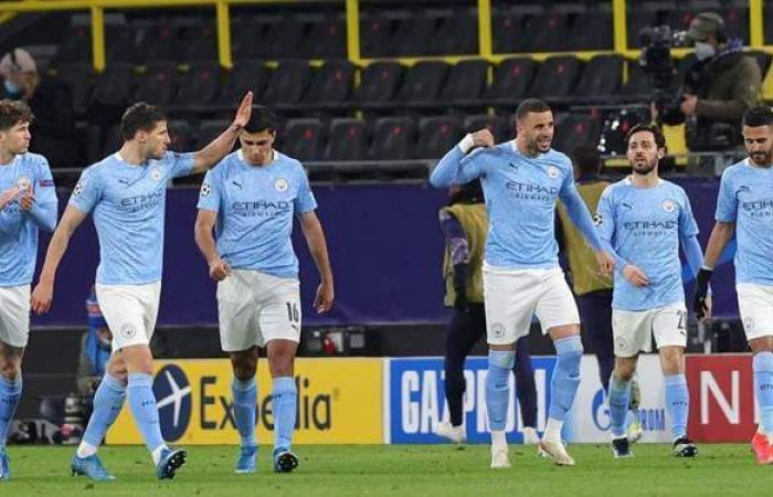 شاهد احتفالات لاعبي وجماهير مانشستر سيتي بالتأهل لنهائي أبطال أوروبا   فيديو
