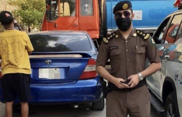 مرور الرياض يضبط قائد مركبة تسبب في حادث تصادم جنوب حديقة اليمامة