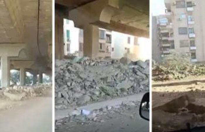 رفع 600 طن مخلفات وقمامة وتشميع مقاهى مخالفة فى حملات بأحياء الجيزة